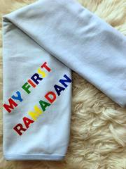 """My First Ramadan"" Blue Blanket"