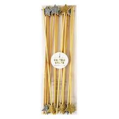Gold & Silver Star Party Sticks