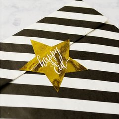 Happy Eid Gold Foil Star Stickers