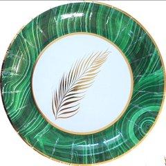 Green Palm Dessert Plates