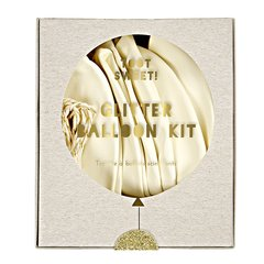 Glittered Gold Balloon Kit