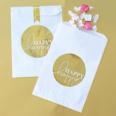"""Happy Happy"" Gold Foil Bag"