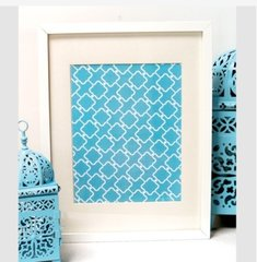 Decorative Print - Blue