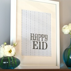 Happy Eid Decorative Prints-Mod