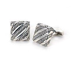 slanted rope square cufflinks