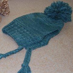 Hand Knit Alpaca Earflap Hat