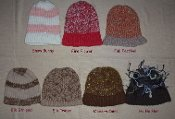 Brimmed Hand Knit Hats Adult