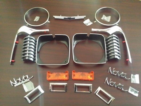 1969 Nova Emblem Kit Will Fit 1968 Chevy Ii Midwest Nova