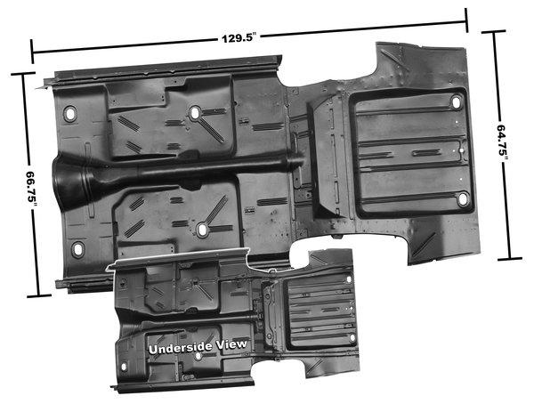 1966 1967 Chevy Ii Floor Pan Amp Trunk Pan Complete No