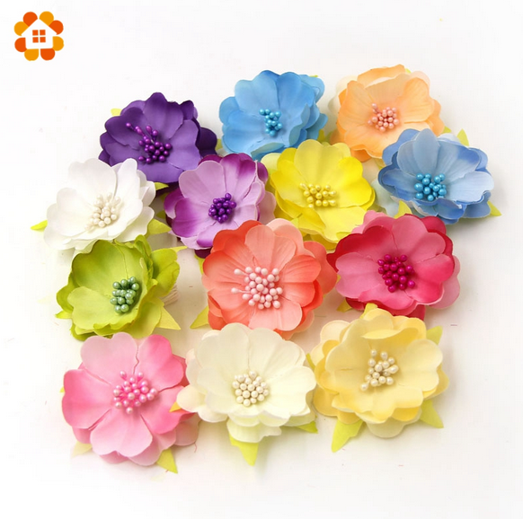 5pcs diy silk flower decoration artificial crafts handmade for Fake flowers for crafts