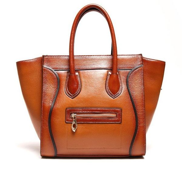 Genuine Leather Bags Luxury Bags Oil Wax Cowhide Brown Handbags ...
