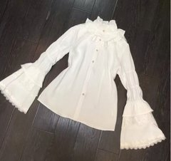 1578 Victorian Cotton Palace Sleeve Ruffle Collar 2 Colors Shirt US4