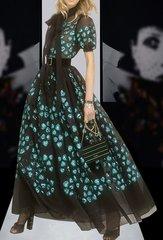 2143 Designer Inspired High End Green Raised Heart Dress