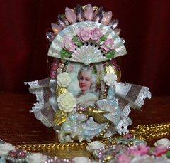 SOLD! 2015 Set Of Marie Antoinette Amazing Hand Painted Cuff+ Earrings