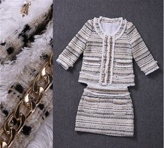 Madam Coco Fancy Twindet Chain Embellished Size S