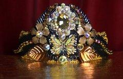 2130 Black Bronze Baroque Butterfly Crown Tiara