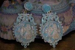 SOLD! Victorian Massive Blue Pearl Studs Earrings