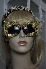 SOLD! Total Baroque Gold Chunky Curvy Unique Dragon Sunglasses