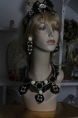 SOLD!146 SET Baroque Lace Flower Pearl Set Necklace Plus Earrings
