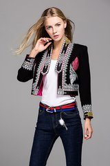 2448 Runway Designer Embroidery Fancy Blazer US2-US6