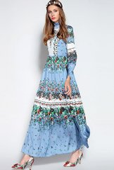 1197 Designer Fall 2016 2 Colors Maxi Country Style Maxi Dress