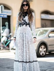 1772 Designer Inspired 2 Colors Lace Mid Cuff Dress