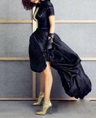 1179 Fancy Puffed Black Dress