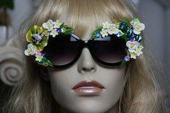SOLD! 347 Art Nouveau Embellished Enamel Adorable Froggies Unusual Sunglasses