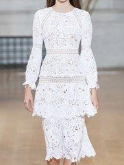 2113 Designer Inspired 2 Colors Crochet Beautiful Mid Cuff Dress