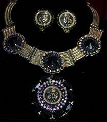 1889 Lion Madam Coco Set Necklace Plus Earrings