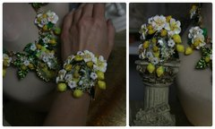 712  Bangle  Spring 2016  Lemon Fruit Flower Bracelet