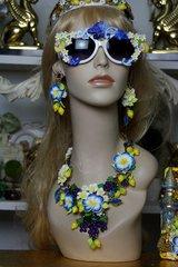 496 Blue Malachite Effect Roman Lemon UV 400 Zibellini Unusual Unique Sunglasses