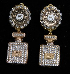 SOLD!1952 Madam Coco Perfume Bottle Crystal Earrings