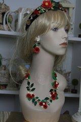 714  SET Spring 2016 Poppy Sunflower Set Necklace Plus Earrings