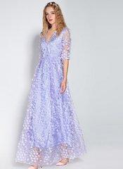 1764 Designer Inspired Light Blue Maxi Dress Gown