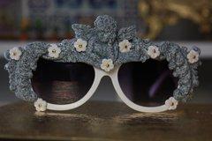 SOLD!374 Stone Age Unusual Unique Cherub Flower Sunglasses