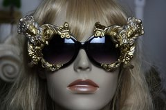 1043  Zibellini Medusa Gorgon Baroque Unusual Unique Fancy Embellished Sunglasses