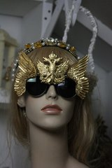 SOLD! 259 Embellished Gold Winged Eagle Unusual Unique Fancy Sunglasses