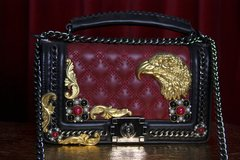 SOLD! 2082 Madam Coco Eagle Embellished Vine Handbag