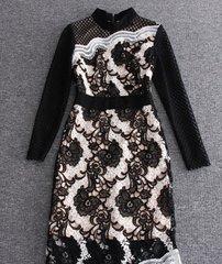 1765 Designer Inspired Stunning Lace Net Mini Dress