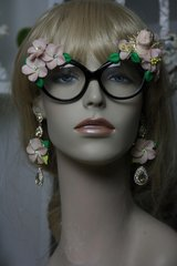 437 Embellished Pale Pink Flower Cherub Fancy Eyewear