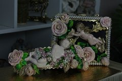 SOLD!  Zibellini Baroque Vivid Cherub Chunky Roses Belt M, L, XL
