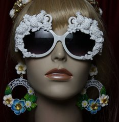 SOLD!1950 Pineapple Grapes White Architect Greek Inspiration Sunglasses