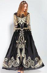 1795 Runway Designer Inspired Beige Black Gown Maxi Dress