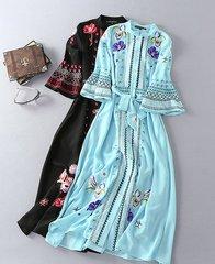 965  Boho Embroidery Dress Kaftan