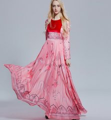 2072 Designer Spring 2017 Silky Touch Pink Maxi Dress Gown