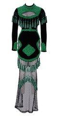 1649 Designer Tassel Beaded Bodycon Fit Gown