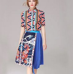 2410 Designer Inspired Fancy Print Twinset