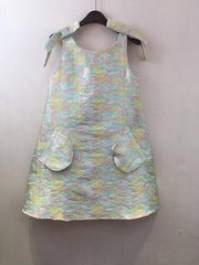 2511 Designer Inspired Pocket Pastel Jacquard Mini Dress US2-US6