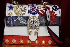 2342 Designer Inspired Nautical Lobster Marine Handbag